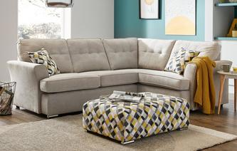 Farah Left Hand Facing 2 Seater Corner Sofa Plaza