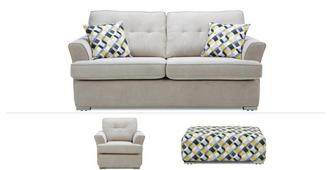 Farah Clearance 3 Seater, Chair & Banquette Stool