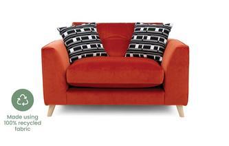 Velvet Cuddler Sofa