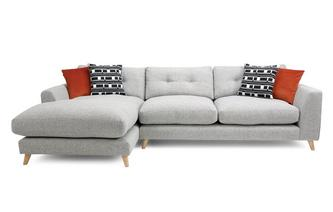 Weave Left Hand Facing Grand Chaise Sofa