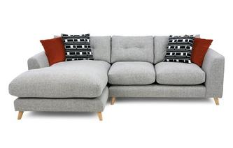 Weave Left Hand Facing Large Chaise Sofa