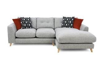 Weave Right Hand Facing Large Chaise Sofa