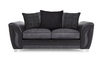 2 Seater Pillow Back Deluxe Sofa Bed Talia