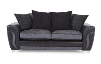 3 Seater Pillow Back Deluxe Sofa Bed
