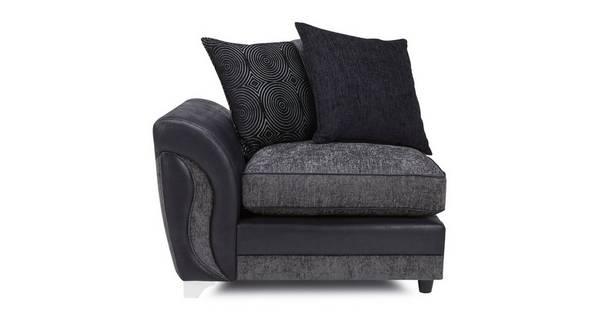 Farrow Left Hand Facing Arm Pillow Back 1 Seat Unit