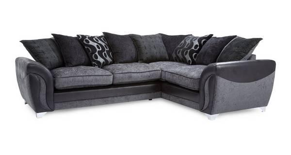 Farrow Left Hand Facing 3 Seater Pillow Back Corner Sofa