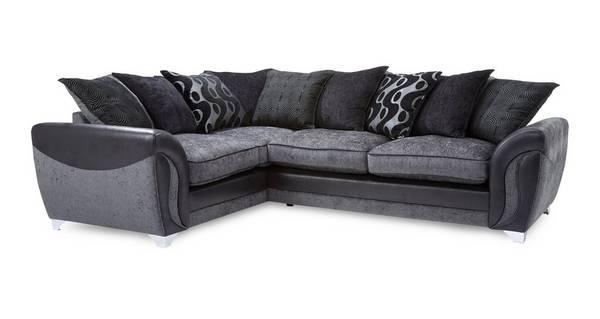Farrow Right Hand Facing 3 Seater Pillow Back Corner Sofa