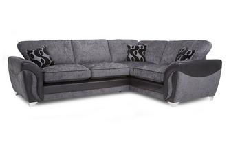 Left Hand Facing 3 Seater Formal Back Corner Sofa Bed