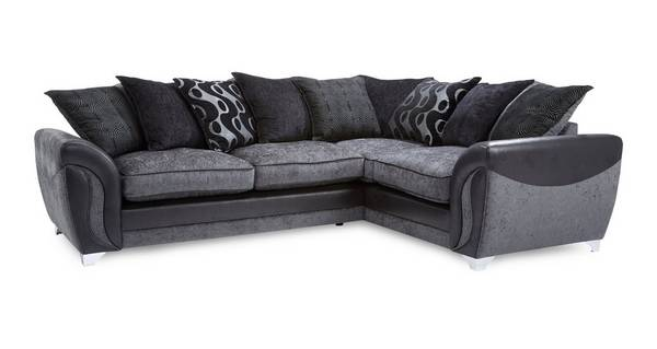 Farrow Left Hand Facing 3 Seater Pillow Back Corner Sofa Bed