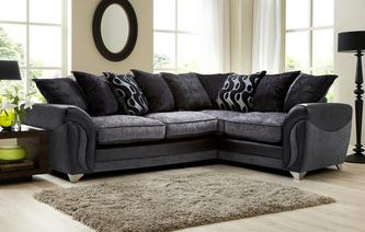 Farrow Left Hand Facing 3 Seater Pillow Back Corner Sofa Bed Talia