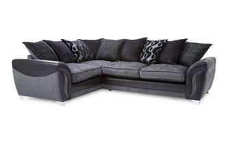 Right Hand Facing 3 Seater Pillow Back Corner Sofa Bed Talia