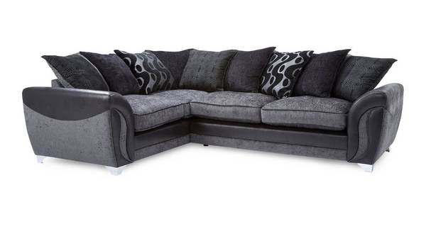 Farrow Right Hand Facing 3 Seater Pillow Back Deluxe Corner Sofa Bed