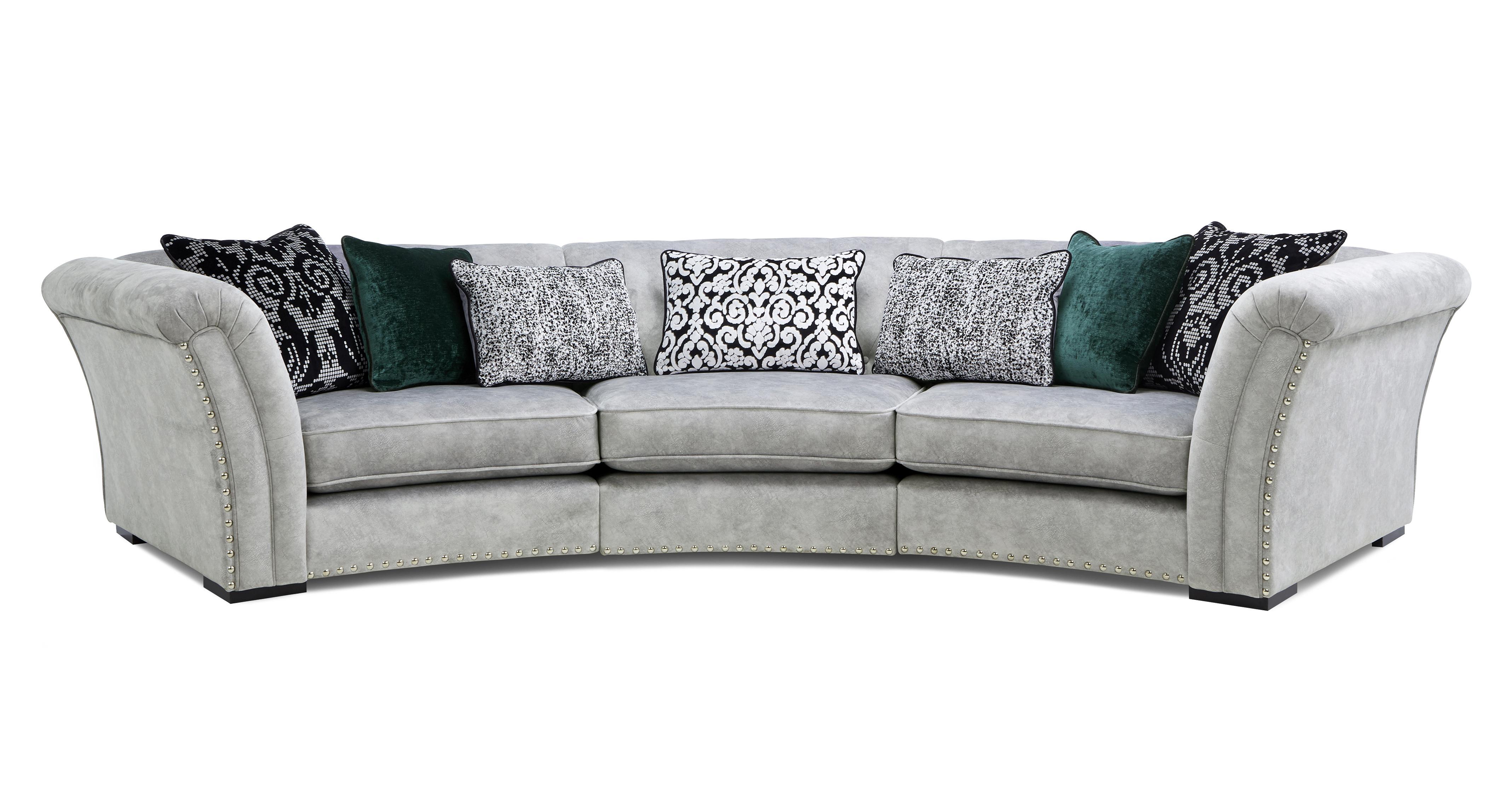 Ffion 3 Piece Curved Sofa Ffion Plain Dfs