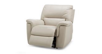 Fiji Leder en lederlook Handbediende recliner stoel
