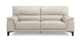 Fiji Leather and Leather Look 3 Seater Sofa
