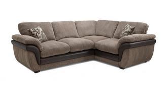 Finchley Left Hand Facing 2 Seater Formal Back Corner Sofa