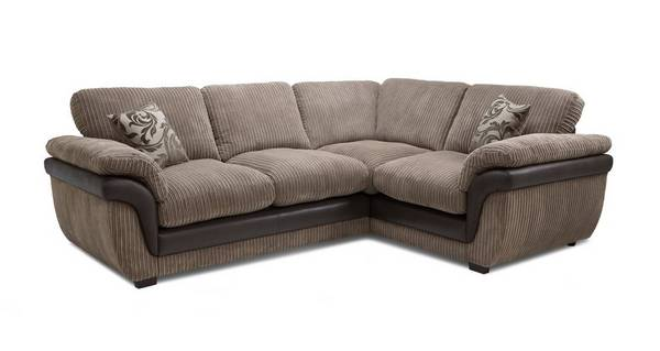 Finchley Left Hand Facing 2 Seater Formal Back Corner Sofa