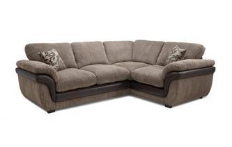 Left Hand Facing 2 Seater Formal Back Corner Deluxe Sofa Bed Eternal