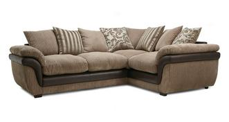 Finchley Left Hand Facing 2 Seater Pillow Back Corner Deluxe Sofa Bed