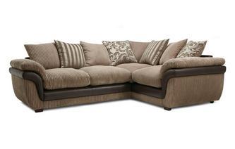 Left Hand Facing 2 Seater Pillow Back Corner Deluxe Sofa Bed Eternal