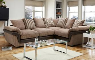 Finchley Left Hand Facing 2 Seater Pillow Back Corner Deluxe Sofa Bed Eternal