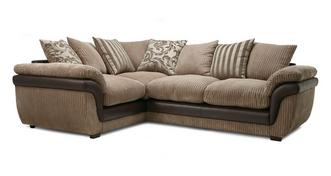 Finchley Right Hand Facing 2 Seater Pillow Back Corner Deluxe Sofa Bed