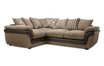 Right Hand Facing 2 Seater Pillow Back Corner Deluxe Sofa Bed Eternal