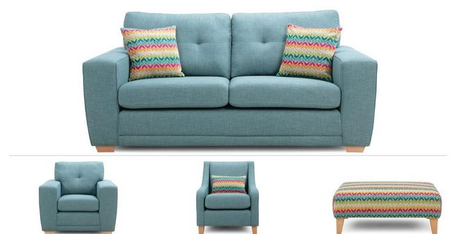 Finn Clearance: 3 Seater Sofa, 2 Chairs & Stool