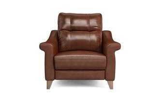 Leather N Power Recliner Cuddler Ergo Leather N