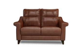 Leather N 2 Seater Fixed Sofa