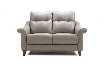 Leather P 2 Seater Fixed Sofa