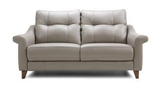 Flair Leather P 3 Seater Fixed Sofa