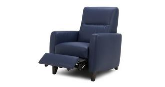Fletch Leather and Leather Look Manual Recliner Chair