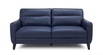 Fletch Leather and Leather Look 3 Seater Sofa