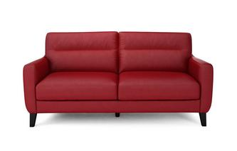 Fletch Leather and Leather Look 3 Seater Sofa Hazen