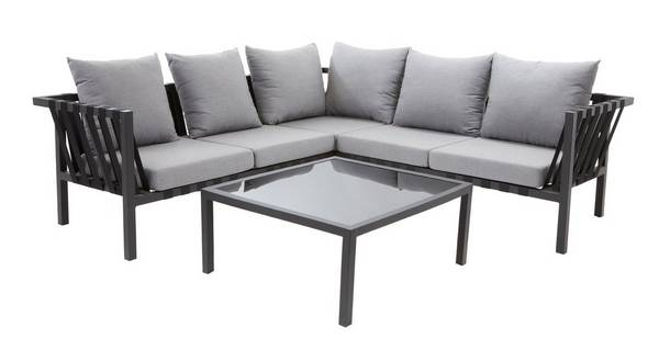 Flex Corner Sofa & Glass Coffee Table