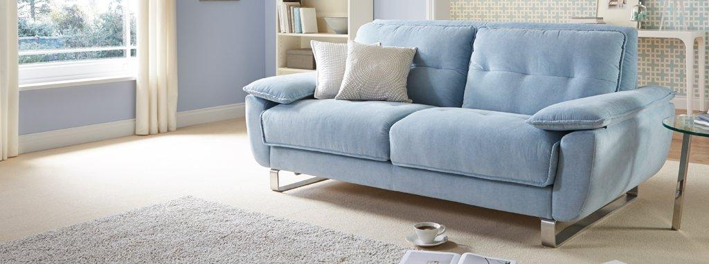 Fling Clearance 3 Seater Sofa Bed Footstool Tiana DFS
