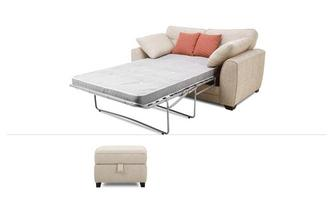 2 Seater Deluxe Sofabed & Storage Stool