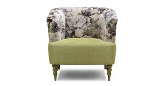 Fliss Pattern and Plain Accent Chair