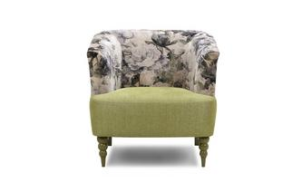 Pattern and Plain Accent Chair