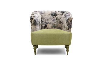 Fliss Clearance Pattern and Plain Accent Chair Fliss