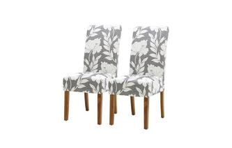Set of 2 Floral Dining Chairs