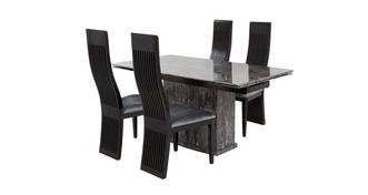 Florence Extending Table & Set of 4 Dining Chairs