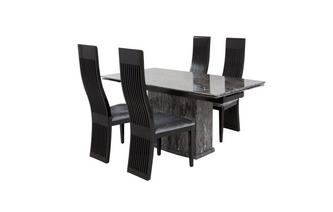 Extending Table & Set of 4 Dining Chairs Florence