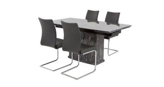 Florence Extending Table & Set of 4 Cantilever Chairs