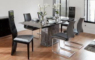 Florence Extending Table & Set of 4 Cantilever Chairs Florence