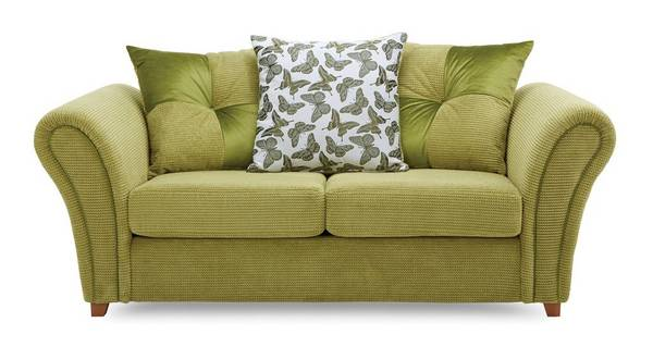 Flutter 2 Seater Pillow Back Deluxe Sofa Bed