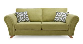 Flutter 3 Seater Formal Back Sofa
