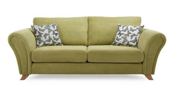 Flutter 3 Seater Formal Back Sofa