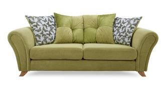 Flutter 3 Seater Pillow Back Sofa